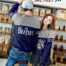Baju Couple Lengan Panjang / Kaos Pasangan / Kopel beatles kombinasi