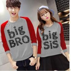 Baju Couple Lengan Panjang / Kaos pasangan / Kopel Big Bro Big Sis