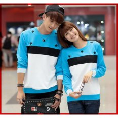 Baju Couple Lengan Panjang / Kaos Pasangan / Kopel Bluestar