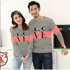 Baju Couple Lengan Panjang / Kaos pasangan / Kopel Love