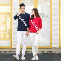Baju Couple Lengan Panjang / Kaos pasangan / Kopel Love turun