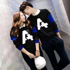 Baju Couple Lengan Panjang / Kaos pasangan / Kopel Lp Abjad A