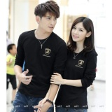 Harga Baju Couple Lengan Panjang Kaos Pasangan Kopel Lp Black Origin