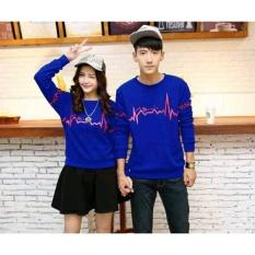 Baju Couple Lengan Panjang / Kaos pasangan / Kopel Simple Signal