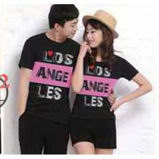 Beli Baju Couple Los Angeles Black 10610 Baju Couple Kaos Couple Baju Pasangan Soulmate Murah Di North Sumatra