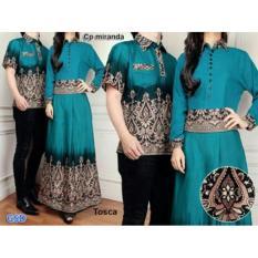 Baju Couple Muslim / Gaun Batik Gamis / Pasangan Miranda Tosca