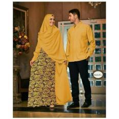 Baju Couple Muslim Terbaru Batik Sarimbit Modern Seragam Pesta Hijab - R8wej5