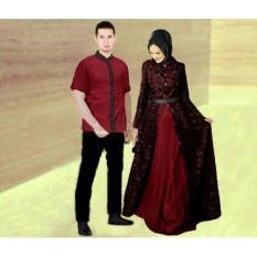 Baju Couple Muslim Terbaru Zahira Batik Sarimbit Modern Seragam Pesta - 8Encap
