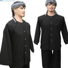 Baju Dan Celana Adat Pangsi Sunda - Hitam Polos