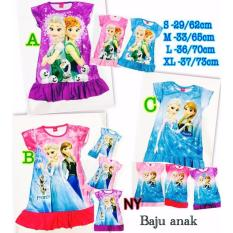 Baju dress anak Frozen
