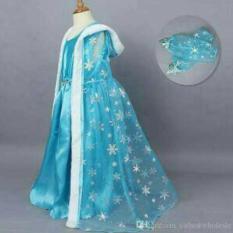 Baju dress anak kostum frozen jubah winter