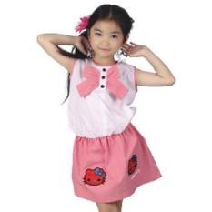 Baju Dress Atasan Blus Hello Kitty Anak Perempuan Cewek CMS 001 CR