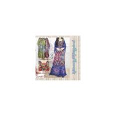 Baju dress gaun gamis murah-kaftan motif unik multi colour-bordir-size XL By Nurul Collection