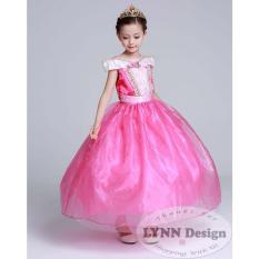 Lynn Design - Baju Dress gaun pesta Kostum anak Princess Aurora Pink_Lynn Design