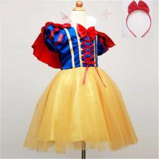 Toko Baju Dress Kostum Princess Snow White Putri Salju Anak Lengkap