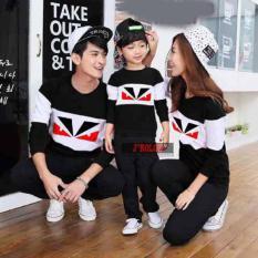 Baju Family Couple / Kaos Pasangan Keluarga 1 Anak Lengan Panjang