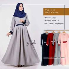Baju Gamis Aveline Dress Ori Alice Longdress Maxi Diamomd Crepe
