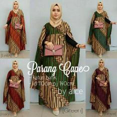 Baju Gamis Batik Wanita Jumbo Long Dress Maxi Cape Parang