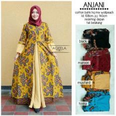 Jual Baju Gamis Batik Wanita Long Dress Maxi Anjani Size Xl Murah