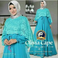 Baju Gamis Busana Fashion Muslimah Wanita Olivia Cape Tosca