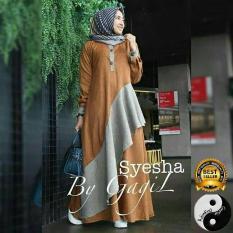 Jual Baju Gamis Busana Fashion Muslimah Wanita Syesha Dress Gamis Dress Ori