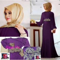 Baju Gamis Dress Pashmina Maxi Remaja Syari Maxi Zubaidah Purple