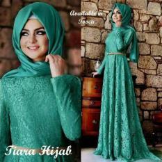 Baju Gamis Dress Pashmina Maxi Remaja Syari Tiara Hijab Maxi Tosca 3In1