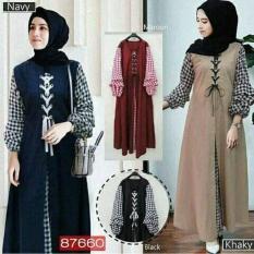 Baju Gamis Hijab Gaya Baru / Grosir Pakaian Wanita : Soimah Dress