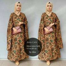 Baju Gamis Long Dress Maxi Wanita Muslim batik cape ania XL