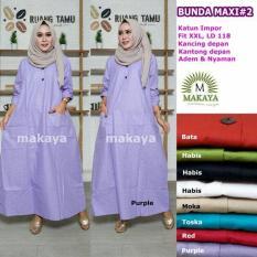 Baju Gamis Long Dress Maxi Wanita Muslim polos busui bunda XXL jumbo