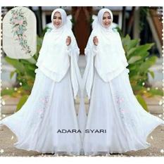 Baju Gamis Muslim Pesta Wisuda Lebaran Syari Remaja 11380 ADARA SYARI WHITE