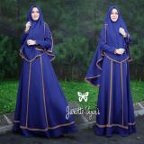 Beli Baju Gamis Muslim Syari Fashionable Gamis Janetta Syari Biru Online Dki Jakarta