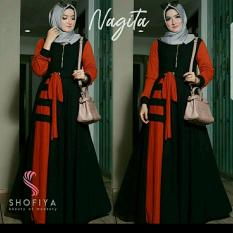 Baju Gamis Muslim Syari Fashionable - Gamis Nagita Syari
