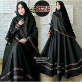 Review Baju Gamis Muslim Syari Fashionable Gamis Pita Songket Hitam Dki Jakarta