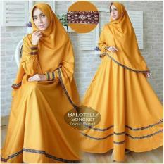 Diskon Baju Gamis Muslim Syari Fashionable Gamis Pita Songket Mustard Dki Jakarta
