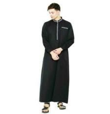 Baju gamis pria hitam panjang best sealer-baju muslim terbaru ori java