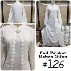 Baju Gamis Putih / Busana Muslim / Baju Muslim Wanita #126 STD