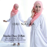 Beli Baju Gamis Putih Polos Longdress Vinolia Baloteli Jawa Barat