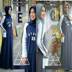 Baju Gamis Sehari Hari / Dress Muslim Lucu Murah / Hijab : Tokyo Maxy