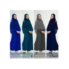Baju Gamis Syari Polos Oki, Gamis Wanita Muslim, Gamis Jersey XL