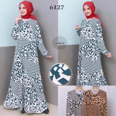 Baju Gamis Wanita Gamis Jumbo XXL Bahan Jersey Korea 6727