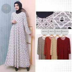 Baju gamis wanita jumbo bahan kaos import 8927