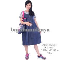 Baju Hamil Gaya - ALICIA OVERALL NAVY (NO INNER) - Overall Hamil / Baju Hamil Murah / Celana Hamil / Baju Wanita Harga Murah / Baju Wanita Kekinian / Baju Hamil / Dress Hamil / Terusan Hamil / Daster Hamil / Baju Hamil Modis / Baju Hamil Kerja / Laris