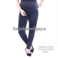 Baju Hamil Gaya - CAMERON PANTS BLACK - Celana Hamil Murah