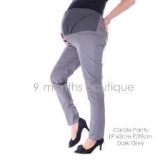 Baju Hamil Gaya - Celana Hamil Kerja - CAROLE PANTS DARK GREY - Celana Hamil / Celana Wanita / Baju Hamil Murah / Celana Kerja Hamil / Celana Panjang Hamil / Celana Wanita / Baju Hamil Harga Murah /Celana Hamil Murah / Baju Hamil Hijab / Baju Hamil Laris