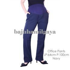 Baju Hamil Gaya - OFFICE PANTS NAVY - Celana Hamil Baju Hamil Murah