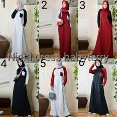 Baju Hangat / Gamis Sehari Hari / Dress Casual Murah : Nichi Dress