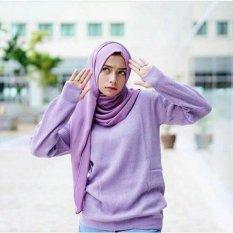 Jual Beli Baju Hangat Rajut Premium Tebal Rajut Purple Rounhand