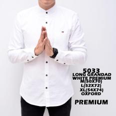 Katalog Baju Hem Kemeja Pria Cowok Lengan Panjang Kerah Shanghay Slimfit White Simple Putih Polos Distro Grosir Murah The Most Terbaru
