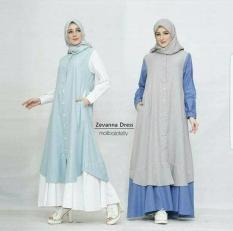 Baju Hijab Busui / Dress Menyusui / Grosir Gamis Murah : Zevanna Dres